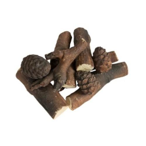 Декоративные элементы для камина (ель, дрова, шишки)