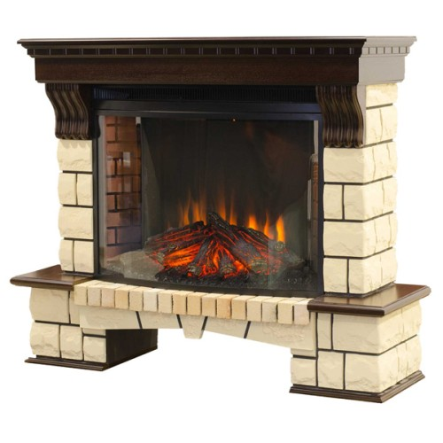 Электрокамин Stone New с очагом FireSpace 33 S IR